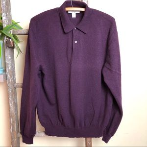 Turnbury Cashmere Plum Purple Pullover Sweater B